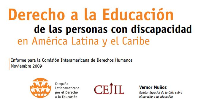 Derecho a la Educación  de las personas con discapacidad en América Latina y el Caribe