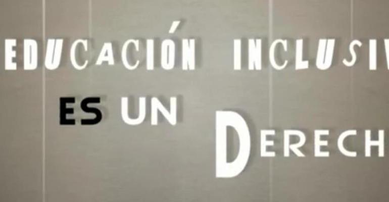 """Imagen: """"La educación inclusiva es un derecho"""""""