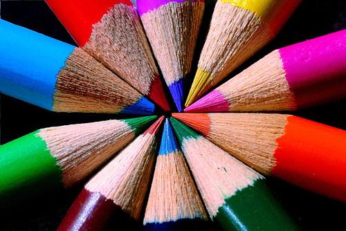 Imagen de puntas de lápices de colores