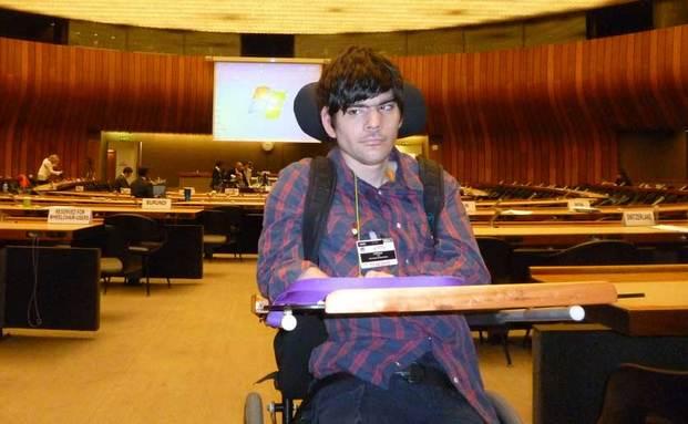Foto: Juan Cobeñas en la ONU, Ginebra.