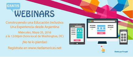 """Seminario en línea: """"Construyendo una Educación Inclusiva: una experiencia desde Argentina"""""""