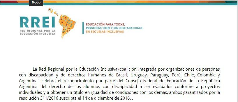 En Argentina se reconoce el derecho a la certificación igualitaria para estudiantes con discapacidad