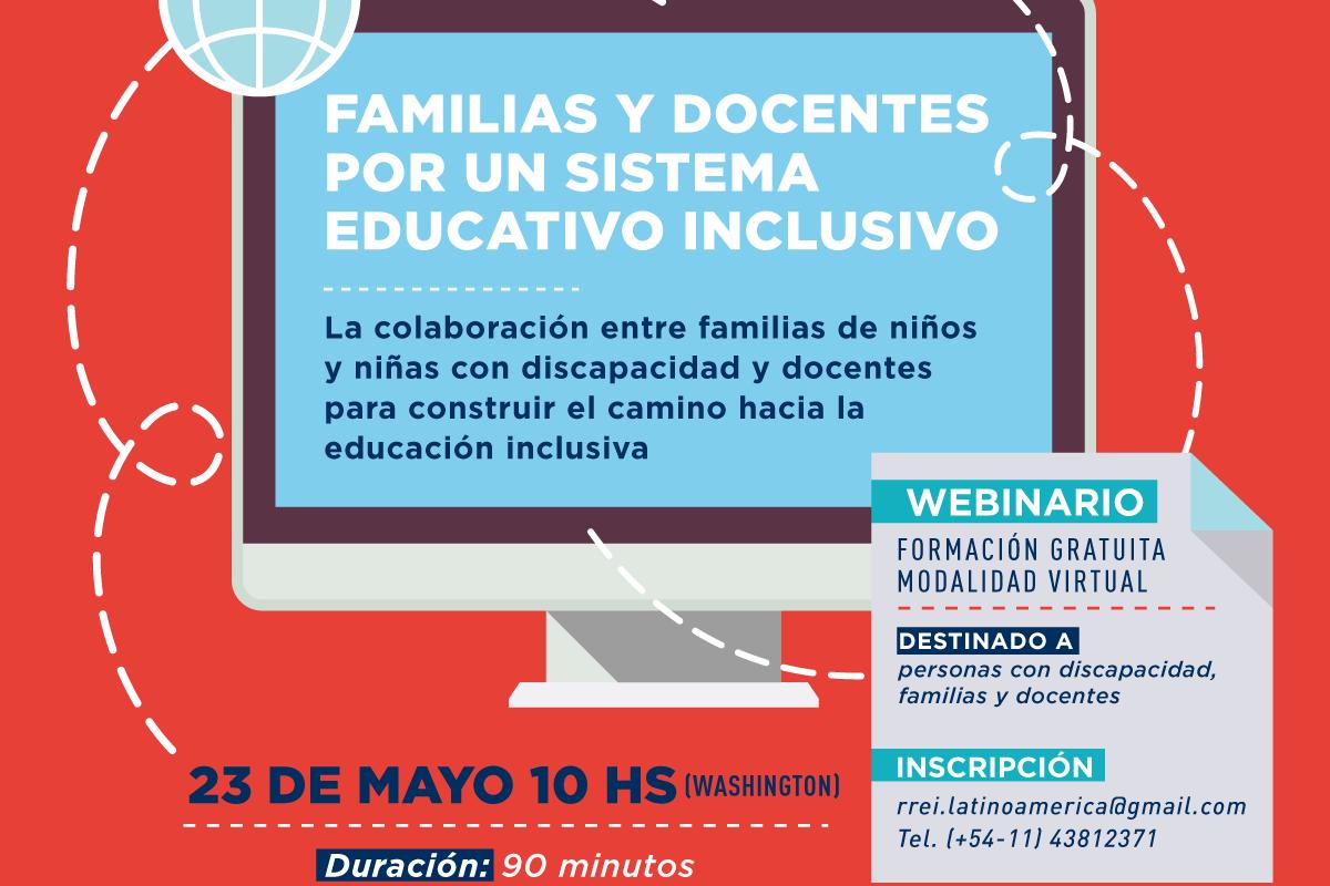 Seminario en línea: Familias y docentes por un sistema educativo inclusivo