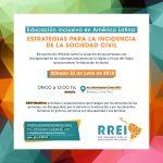 """La RREI las/los invita al encuentro """"Educación Inclusiva en América Latina: estrategias para la incidencia de la sociedad civil"""""""
