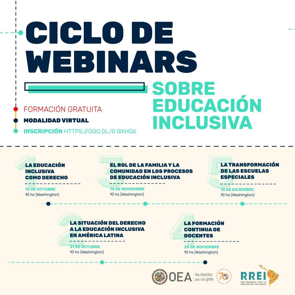 Ciclo de Webinars sobre Educación Inclusiva