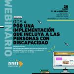 Seminario en línea: ODS 4, por una implementación que incluya a las personas con discapacidad