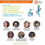 Participamos del diálogo virtual sobre el derecho a la educación inclusiva en América Latina y el Caribe organizado por CLADE
