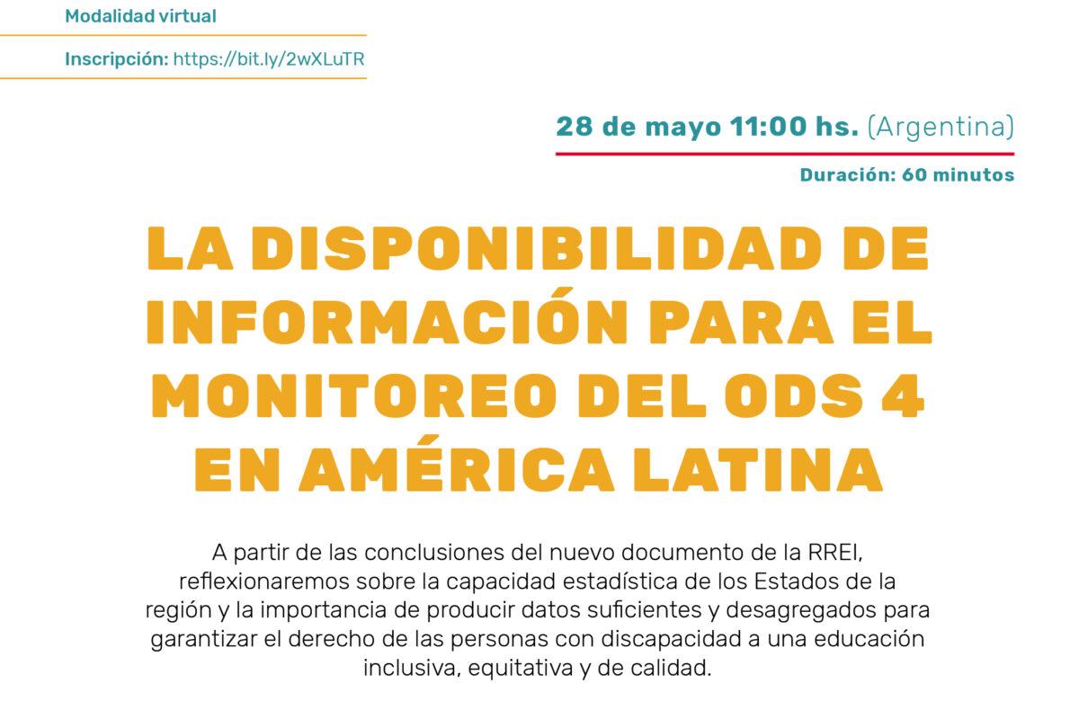 Seminario en línea: La disponibilidad de información para el monitoreo del ODS 4 en América Latina