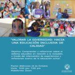 """Participamos del evento virtual """"Valorar la diversidad: Hacia una educación inclusiva de calidad"""""""