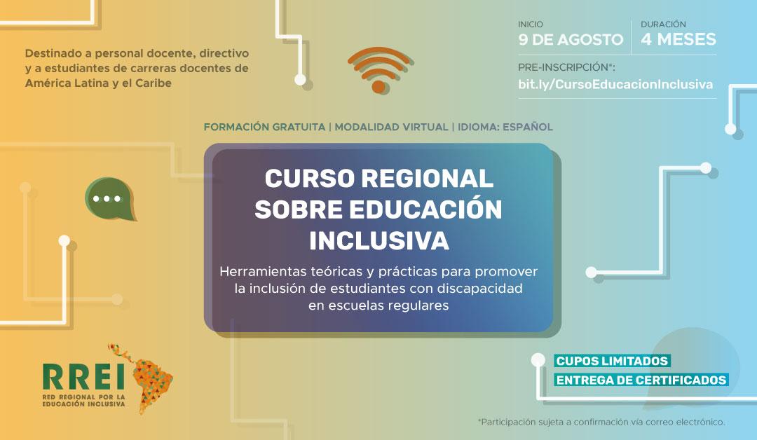 Lanzamos el Curso Regional sobre Educación Inclusiva